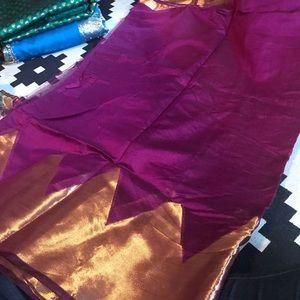 Dresses & Skirts - Purple golden Saree